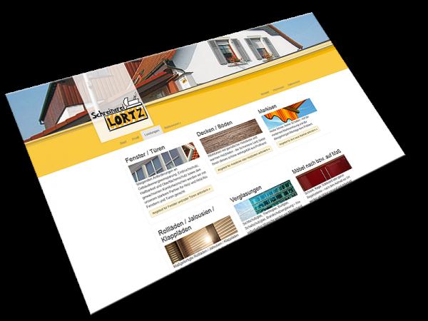 Webseite der Schreinerei Lortz | Stockstadt