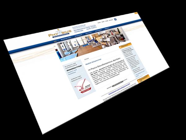 Website Physius Gesundheitszentrum | Bad Soden im Taunus