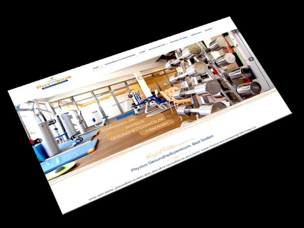 Website Physius Gesundheitszentrum   Bad Soden im Taunus